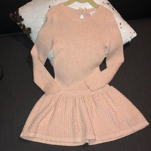 Tunic Tutu metallic pink dress